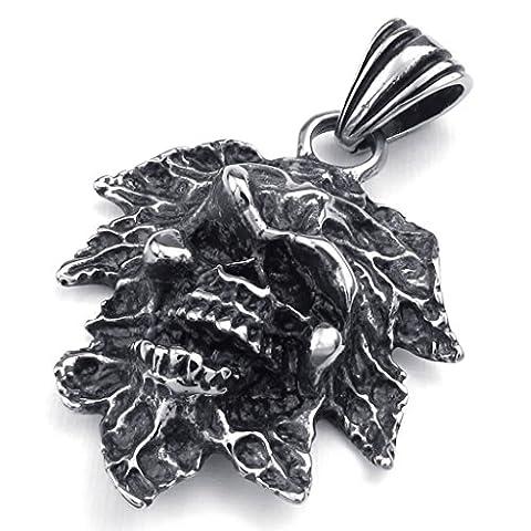 Beydodo Stainless Steel Necklace (Massive Chain) Irregular Shape 20Inch For Men
