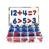 Cozyhoma Magnetbuchstaben mit Magnettafel und Aufbewahrungsbox, Großbuchstaben Kleinbuchstaben ABC Kühlschrankmagnete lustig Lernspielzeug, 108 Pieces Numbers