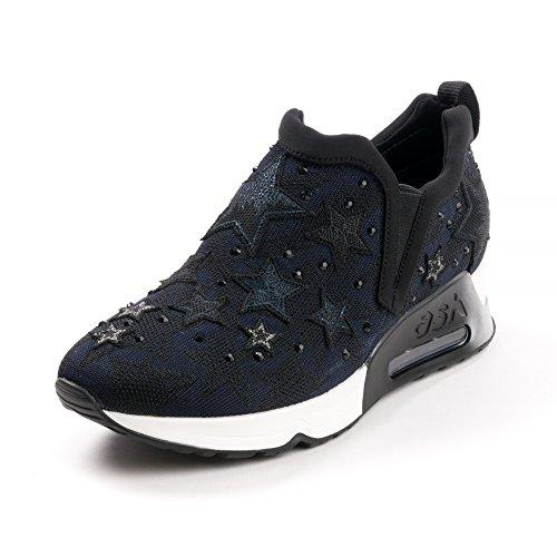 Ash Footwear Lifting Star Knit Black and Midnight Trainer 41EU/8UK Black /Midnight