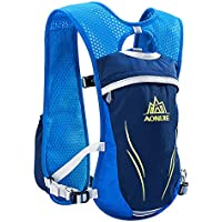454f7ea291 E-NORBE AONIJIE Hydration Pack Backpack 5.5L 6 Pockets Volume Marathoner Running  Race Hydration