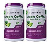 HealthyHey Green Coffee Bean Extract 100% Pure with Antioxidants, 50% Chlorogenic Acid, Non-GMO