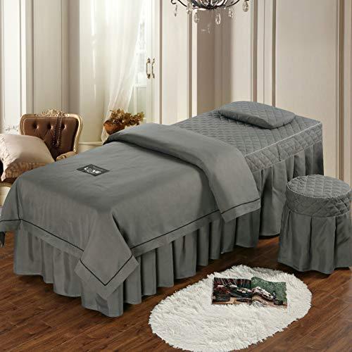 YXLHJ Premium Beauty-Bett-Abdeckung,4-teilig High-Grade Massageliegenbezug Volltonfarbe Beauty Salon Bettrock Therapieinieblesungen-e 185x70cm(73x28inch) -
