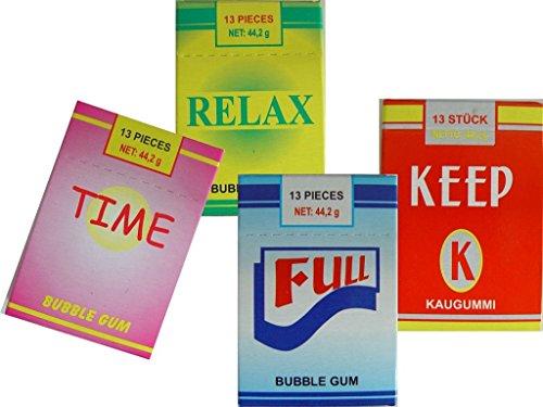 Sigarette alla gomma da masticare con effetto fumo - 4 pacchi