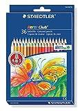 Staedtler 144 ND36 Buntstifte Noris Club (erhöhte Bruchfestigkeit, sechskant, Set mit 36 brillanten Farben, ABS-System, kindgerecht nach DIN EN71, umweltfreundliches PEFC-Holz, Made in Germany)