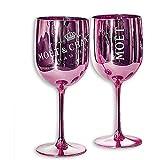 Moët & Chandon Ice Imperial - 2 bicchieri da champagne in vetro acrilico, colore: Rosa