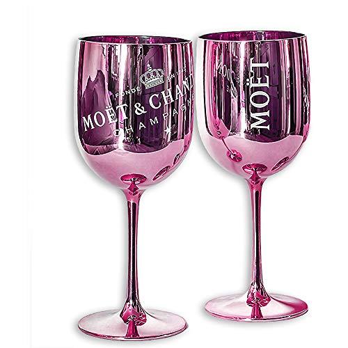 Moët & Chandon Ice Imperial Champagnergläser, Rosa, Kunstoff, 2 Stück -