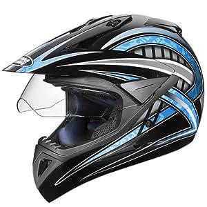 Studds Motocross D2 Helmet With Visor (Black N1, L)