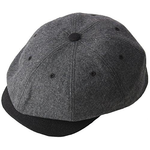 RaOn Hysteresen-Stil 8 Panel Cabbie flach Golf Fahr Hut für Herren 6 3/8~3/8 7 (55cm ~ 59cm) Grau (Fahr-hüte Für Männer)