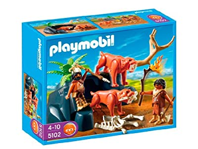 Edad piedra: tigres + cazadores de Playmobil (5102)