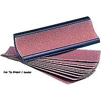 Peradon Cue Tip Shaper & 10 Sandpaper Shaping Pads by Peradon