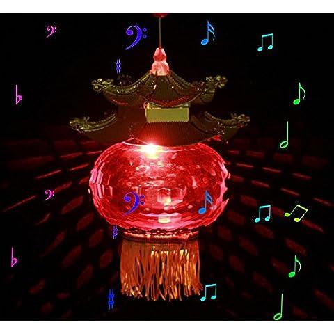 Argento di lanterna portatile bambini cucchiaio piccolo palazzo Lantern Festival Festival delle lanterne dei best seller di musica