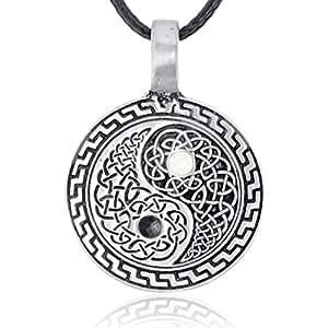 Joaillier Llords | Symbole Yin-Yang, Collier à pendentif, bijou en pur étain