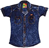 POGO Boys' Cotton Shirt (POGO07 _ 7-8 Ye...