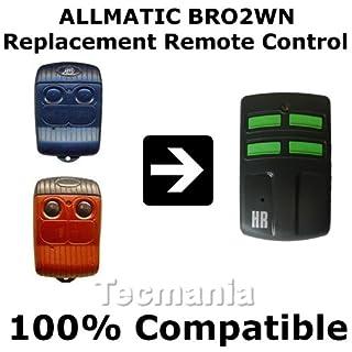 Allmatic Ersatz-Fernbedienung Für Garagentor - BRO1WN / B.RO1WN BRO2WN / B.RO2WN / BRO4WN / B.RO4WN Rot / B.RO OVER - Neu