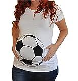 Pacyer® Damen Umstands Shell Fußball Basketball Frauen Schwangerschafts-T-Shirt Oversize Bluse Shirt Kurzarm Tops Blouse (L, Orange)