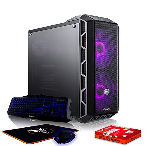 Fierce Slayer RGB Gaming PC Bundeln - Schnell 4.6GHz Hex-Core Intel Core i7 8700K, 480GB Solid State Drive, 16GB 2666MHz, AMD Radeon RX 560 2GB, Windows Nicht Enthalten, Tastatur Maus 1048545