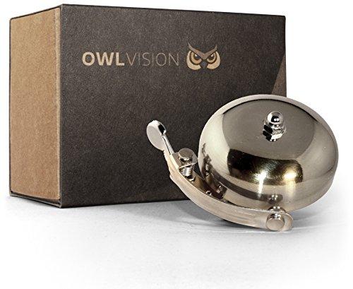 OWL VISION Fahrradklingel Hoot - Classic (Silver)