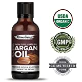 Argan Moroccan Cold Pressed Organic 100% Pure And Natural Essential Oil For Face,Skin,And Hair Care From Aromatique (Organic Usda Certified) 30ml .