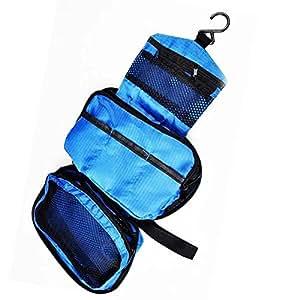 Hanging Travel Toiletry Wash Bag (Blue)