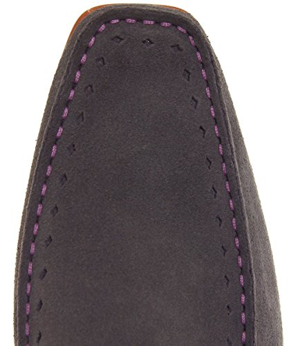 Jeffery-West Hommes mocassins daim Gris Gris