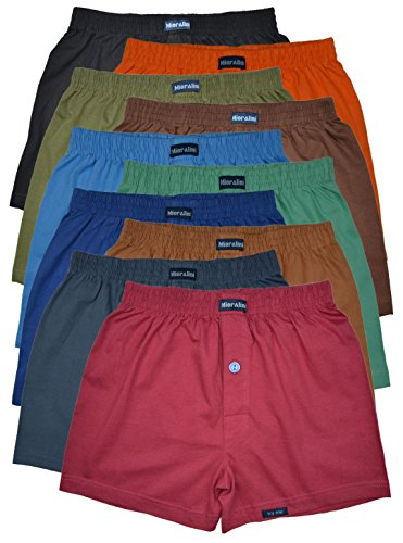 MioRalini 10 Boxershort Baumwolle Artikel: mit Eingriff Farbig, Größe: 2XL-8