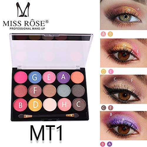 Mitlfuny Beauty Makeup,15 Farben Perlglanz Matt Lidschatten Makeup Mehrfarbige Lidschattenplatte
