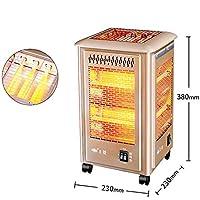 Little Sun Calentador de Cinco Lados, Asador a la Parrilla, Pequeño Calentador Solar, Horno Eléctrico Doméstico, Calentador Eléctrico de la Parrilla,Oro,Un tamaño