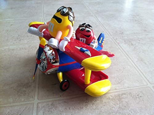 mars-mm-collectors-edition-barnstorming-rides-airplane-candy-dispenser-with-yellow-and-red-mm-charac