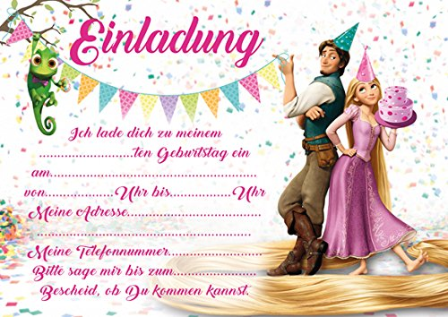 indergeburtstag Rapunzel Neu Verfoehnt Tangled (mit rosa Umschlägen) ()