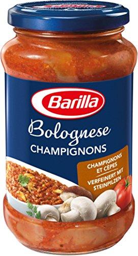 Barilla Pastasauce Bolognese mit Champignons und Steinpilzen, 6er Pack (6 x 400 g)