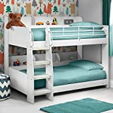 Happy Beds Domino White Finished Sleep Station Childrens Kids Bunk Bed Frame 3' Single