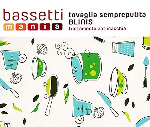 Bassetti tovaglia semprepulita antimacchia blinis (140x220 cm, blinis verde)