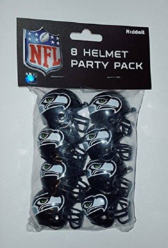 izielles NFL 3,8 cm Team Helm Party Pack von Riddell 330280 (Seahawks-party)