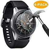 CAVN Samsung Galaxy Watch 46mm Schutzfolie Panzerglas, [4 Stück] Wasserdichtes gehärtetes Glas Displayschutzfolie für Samsung Galaxy Watch [High Sensitivity] [HD Clear] [Anti-Scratch] [Anti-Bubble]