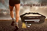 Adofo Running Belt Waist Pouch for Men + Women, Holds Smart Phones +
