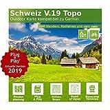 Schweiz V.19 - Profi Outdoor Topo Karte - Topografische Europakarte kompatibel zu Garmin Navigation - Zum Wandern, Geocachen, Bergsteigen, Radfahren, Radtour
