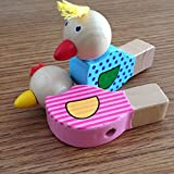 STOBOK Cartone Animato in Legno Uccelli Fischietto Strumento Musicale educativo Suoni Giocattolo per Bambini Regalo per Bambini (Colore Casuale)