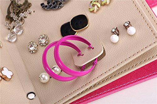 Ohrringhalter Schmuckkästchen Ohrringe Aufbewahrung Ohrringständer Schmuckständer Weihnachtsgeschenk Geburtstagsgeschenk für Mädchen Frauen Damen (Pink) - 4