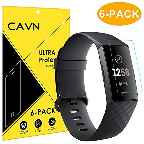 CAVN Fitbit Charge 3 Schutzfolie (6 Stück), HD Ultradünn Folie Volle Abdeckung Flexibel Displayschutzfolie für Fitbit Charge 3 & Special Edition [Anti-Kratzer] [Anti-Blase] [HD Clarity]