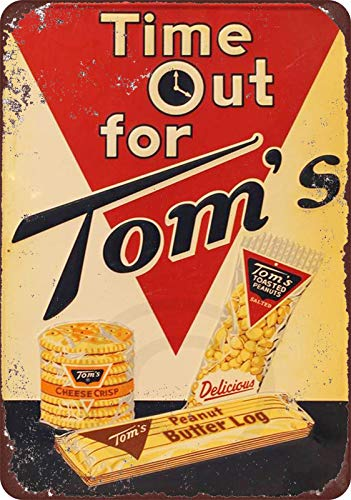 Yilooom Tom\'s Peanuts Vintage Look Reproduction Metal Sign 8x12