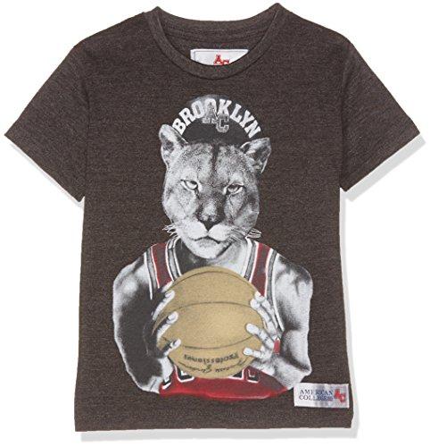 American College Jjordan, T-Shirt Bambino, Grigio (Dark Grey), 14 Anni