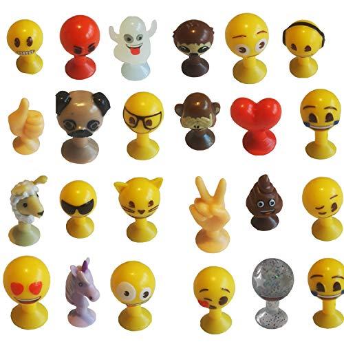 Emoji® Emojis Komplettsatz 24 Figuren ohne Album Aldi Sammelaktion Stikeez Komplett + Spielmatte