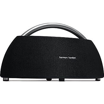 Harman-Kardon Go + Play Tragbarer Bluetooth Lautsprecher (mit Dual-Mikrofon-Konferenzsystem) Schwarz