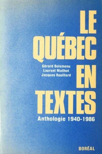 Le Québec en textes