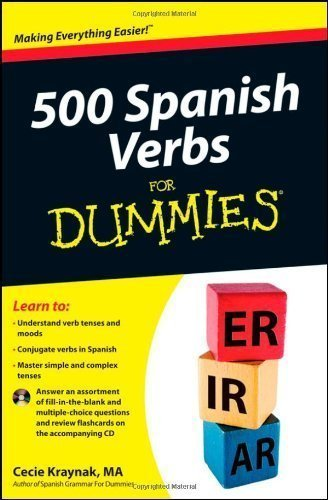 500 Spanish Verbs For Dummies 1st edition by Kraynak, Cecie (2012) Paperback