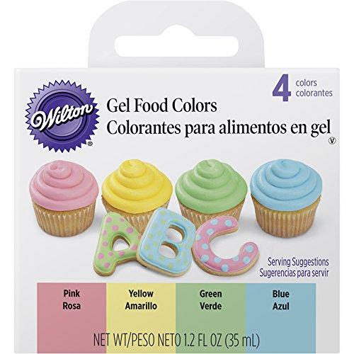 Set de 4 colorantes alimentarios en tonos pasteles - Wilton