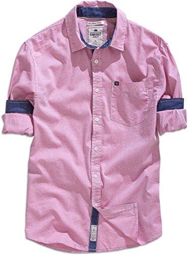 Pausa los angeles, camicia da uomo a maniche lunghe in rosa/rosa antico