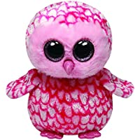 Ty - Pinky, peluche búho, 23 cm, color rosa (36994TY)