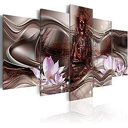murando - Cuadro Buda 100x50 cm impresión de 5 Piezas - Material Tejido no Tejido - impresión artística - Imagen gráfica - Decoracion de Pared Cascada h-A-0075-b-o