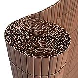 HENGMEI 400x120cm PVC Sichtschutzmatte Sichtschutzzaun Braun - Zaun Sichtschutz Windschutz Blickdicht fur Garten, Balkon und Terrasse (400x120cm, Braun)